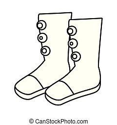 icône, cirque, artiste, bottes, accessoire