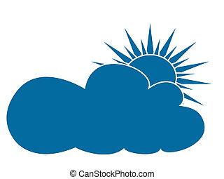 """icône, """"cloudy"""""""