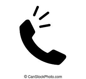 icône, concept, téléphone