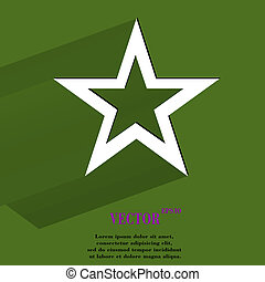 icône, conception toile, étoile, plat