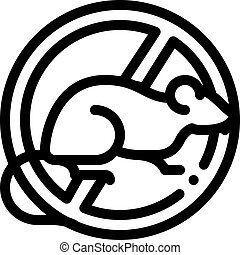 icône, contour, contre, illustration, signe, vecteur, rat