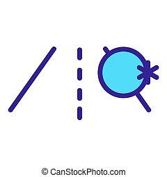 icône, contour, route, mouillé, illustration, symbole, isolé...