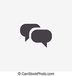 icône, conversation
