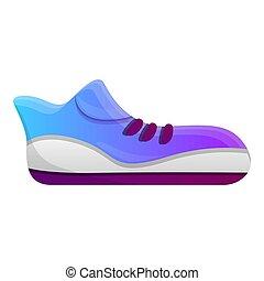 icône, courant, style, dessin animé, chaussure
