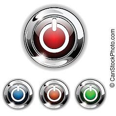 icône, début, vecteur, illustra, bouton
