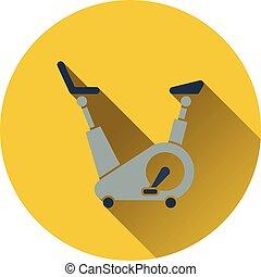 icône, de, bicyclette exercice