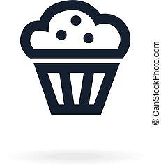 icône, de, cake.