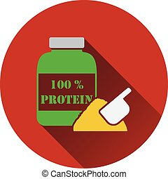 icône, de, protéine, conteiner