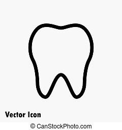 icône, dent