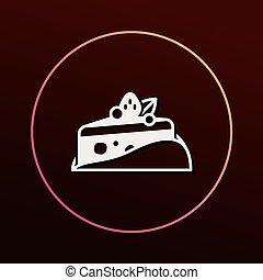 icône, dessert, gâteau
