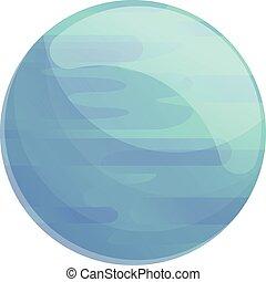 icône, dessin animé, style, planète, bleu