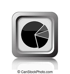 icône, diagramme, tarte