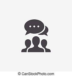 icône, discussion