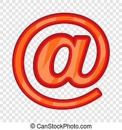 icône, e-mail, style, dessin animé, signe