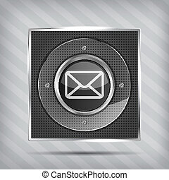 icône, email, bouton