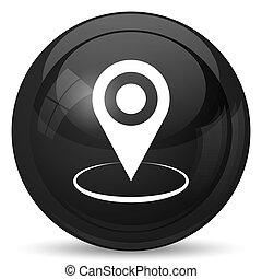 icône, emplacement, épingle