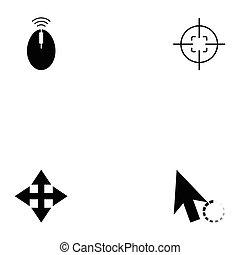 icône, ensemble, curseur