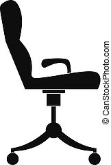 icône, fauteuil, style., simple