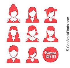icône, femmes