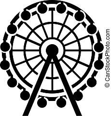 icône, ferris roue