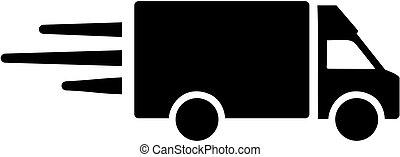 icône, fourgonnette de livraison