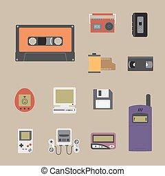 icône, gadget, 90s