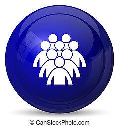 icône, gens, groupe