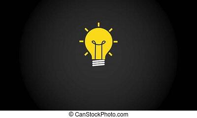 icône, grand, animation, vidéo, idée