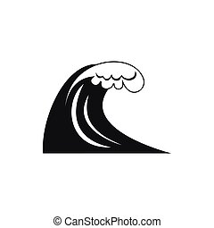 Ic ne simple tsunami style vague style simple isol clipart vectoris recherchez - Vague coloriage ...