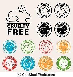 icône, gratuite, cruauté, signe
