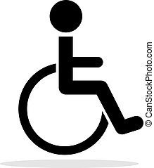 icône, handicapé, toilette