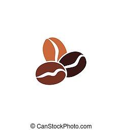 icône, haricot, vecteur, café