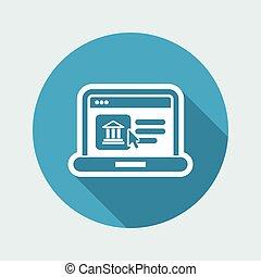 icône, historique, site web