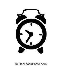 icône, horloge, reveil