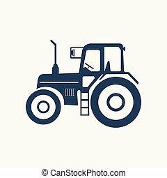 icône, hose., tracteur, vide