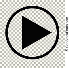 icône, icon., signe., sombre, arrière-plan., gris, jeu, transparent