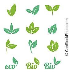 icône, icons., set., eco, écologie