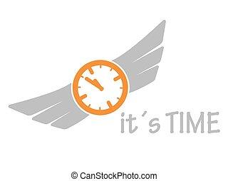 icône, il, temps