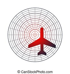 icône, illustration, avion