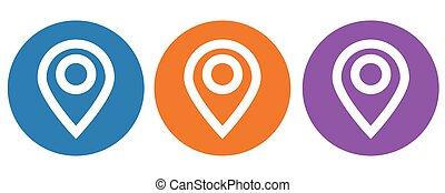 icône, illustration, emplacement, vecteur