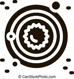 icône, illustration, système, laiteux, solaire, manière