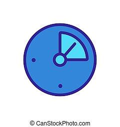 icône, illustration, température, vecteur, indicateur, contour