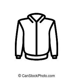 icône, illustration, vector., isolé, chandail, symbole, contour