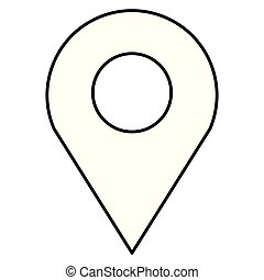 icône, indicateur, épingle, emplacement