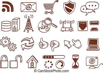 icône internet, ensemble
