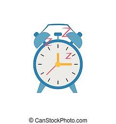icône, isolé, horloge, retro, vendange