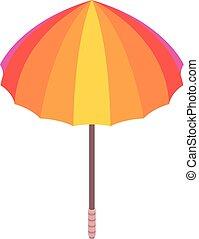 icône, isométrique, parapluie, style, coloré