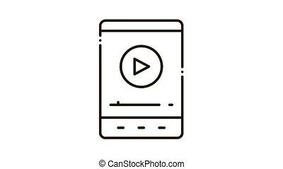 icône, joueur, animation, musique