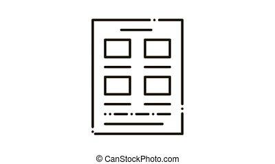 icône, journal, animation, affiche