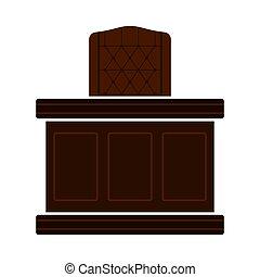 icône, juge, table